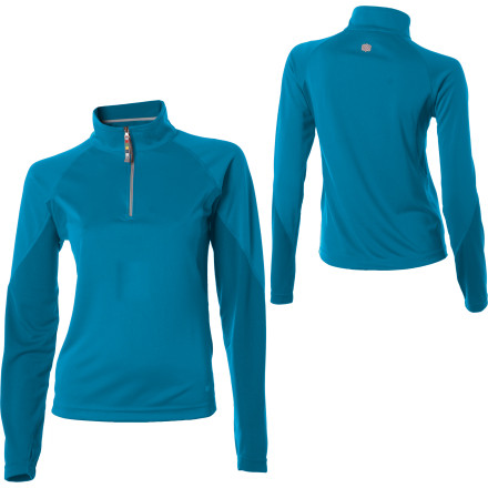 photo: Sherpa Adventure Gear Women's Baans Tech Quarter Zip base layer top