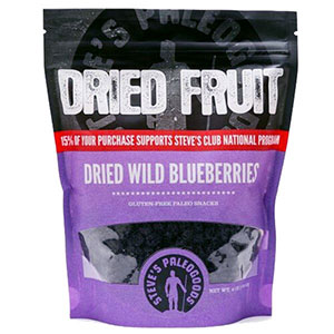 photo:   Steve's Paleogoods Dried Wild Blueberries snack/side dish