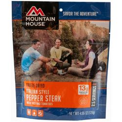 Mountain House Italian Style Pepper Steak with Rice and Tomatoes