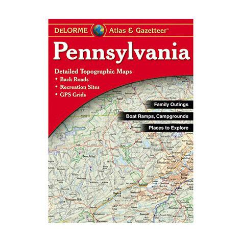 photo: DeLorme Pennsylvania Atlas & Gazetteer us northeast paper map