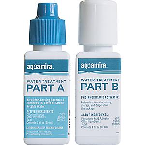 photo of a Aquamira chemical water treatment