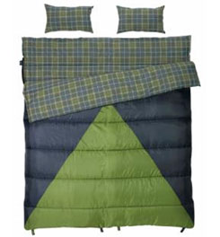 photo: Slumberjack Bonnie & Clyde 40°F / 30°F warm weather synthetic sleeping bag
