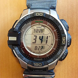 photo: Casio PRG270 compass watch