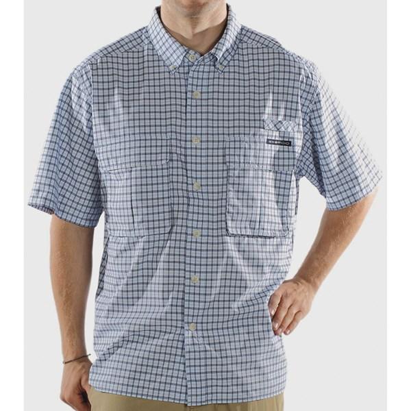 photo: ExOfficio Air Strip Micro Plaid Short-Sleeve Shirt hiking shirt