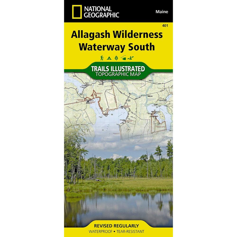 National Geographic Allagash Wilderness Waterway South Trail Map