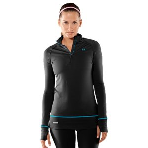 photo: Under Armour Women's Base 2.0 1/4 Zip base layer top