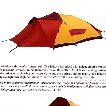 Here is a picture of the Garuda Trikaya after being graphited (yes this still a word). The treated areas of the tent were the front and rear vestubiles and ...  sc 1 st  Trailspace & Sticky tent fly - Trailspace.com