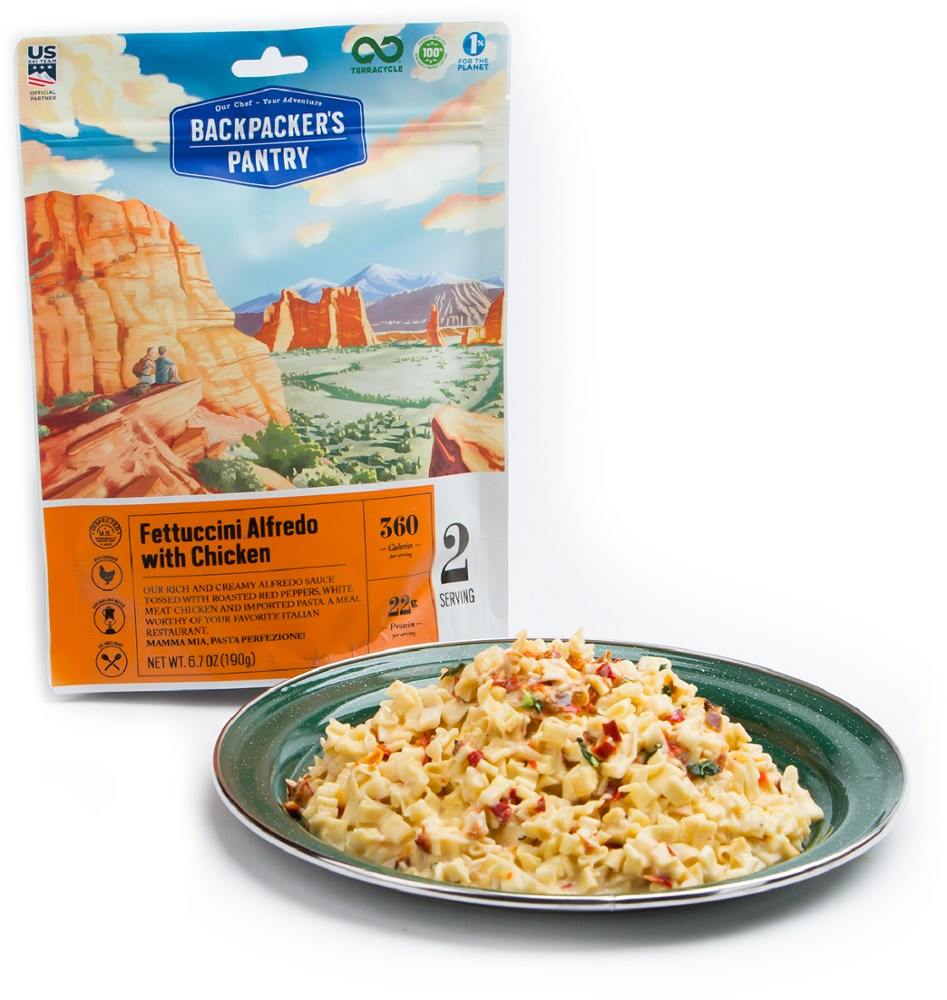 photo: Backpacker's Pantry Fettuccini Alfredo with Chicken meat entrée
