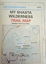 Tom Harrison Maps Mt. Shasta Wilderness Map