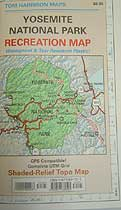 Tom Harrison Maps Yosemite National Park Map