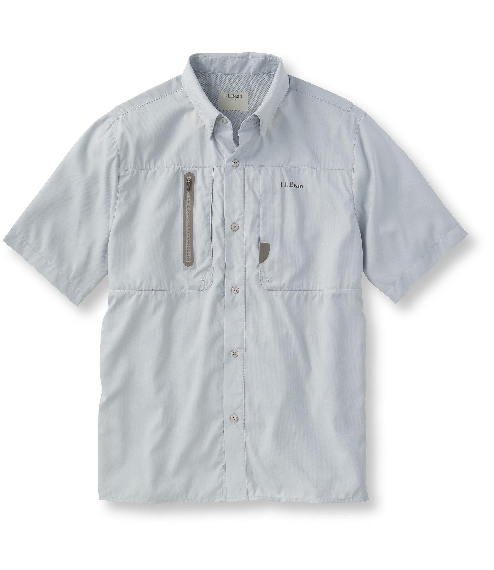 L.L.Bean Rapid River Technical Fishing Shirt, Short-Sleeve