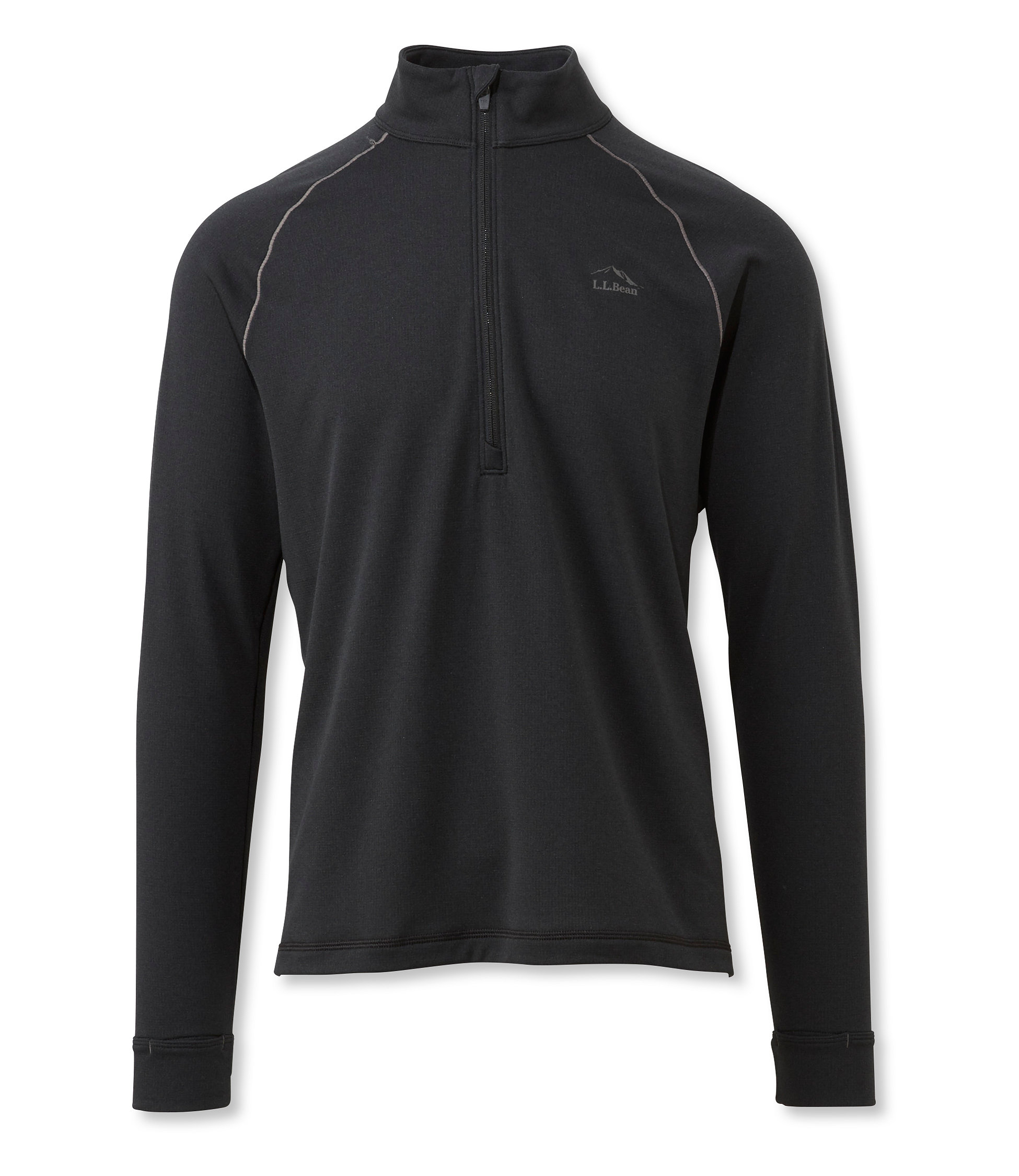 L.L.Bean Power Dry Stretch Base Layer, Expedition Weight Quarter-Zip