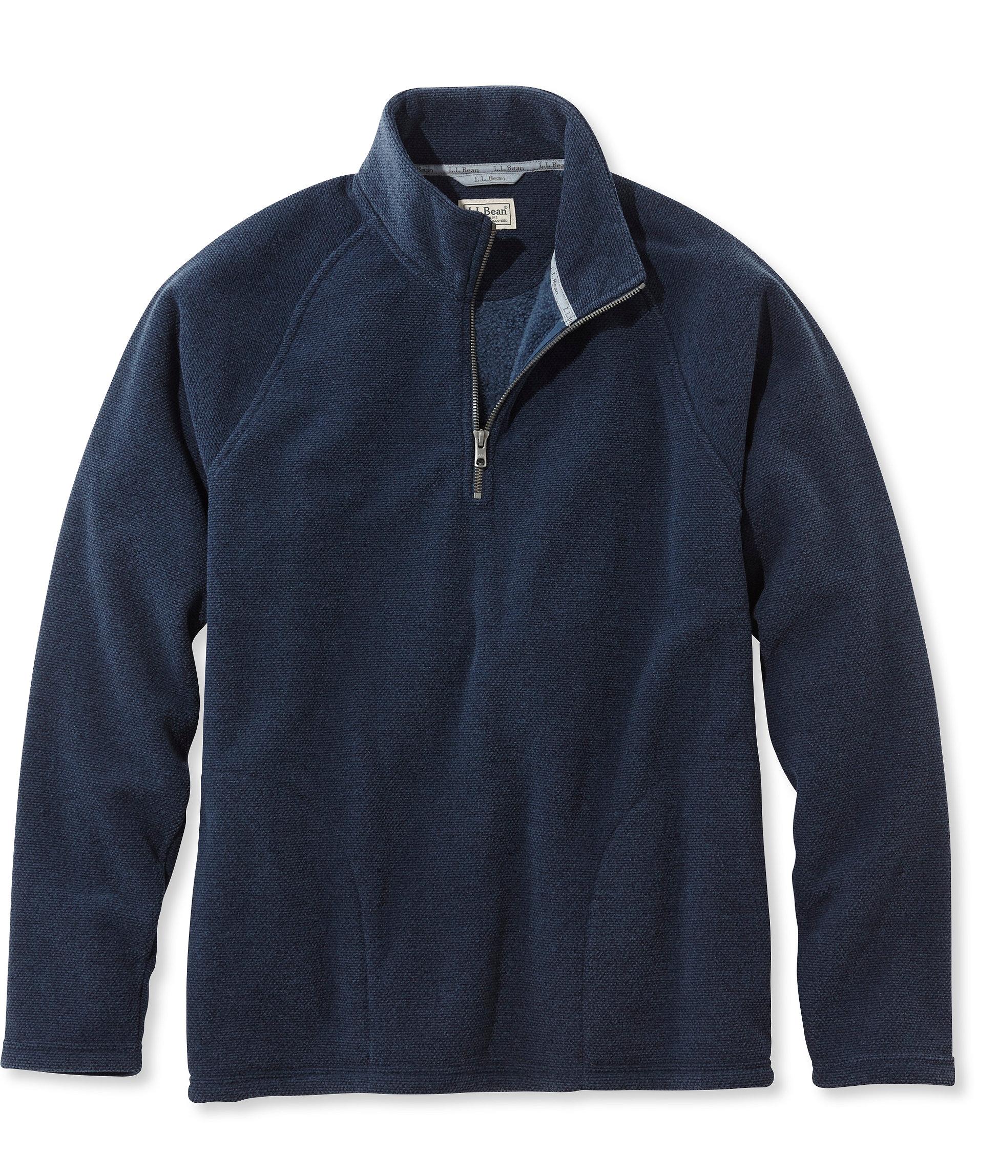 photo: L.L.Bean Textured Fleece Quarter-Zip, Slightly Fitted fleece top