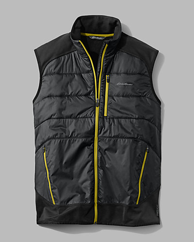 photo: Eddie Bauer Men's IgniteLite Hybrid Vest synthetic insulated vest