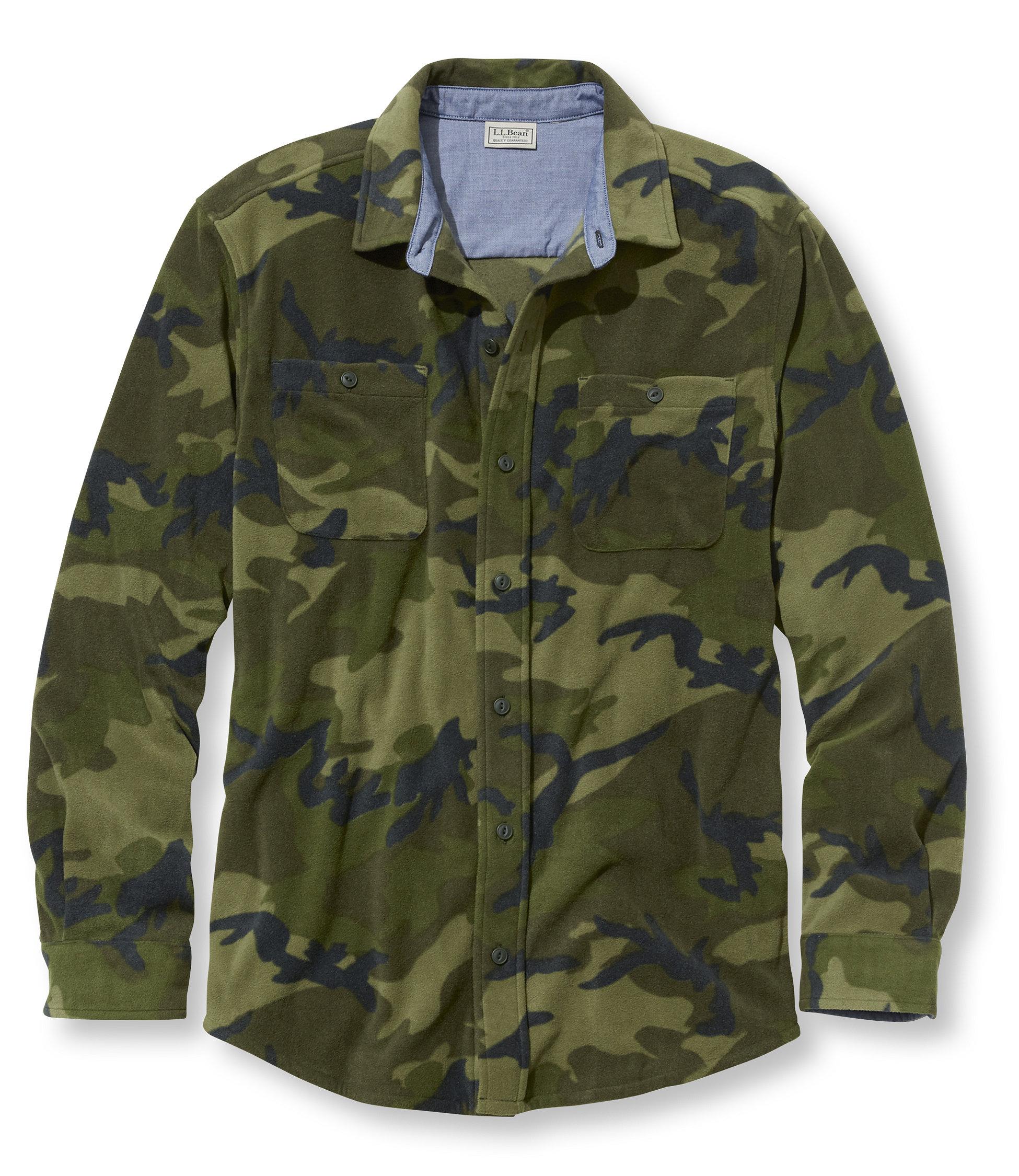 L.L.Bean Bradbury Fleece Shirt, Slightly Fitted