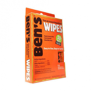 Tender Ben's 30% Deet Field Wipes