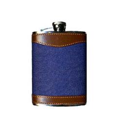 Texsport Denim Stainless Steel Hip Flask