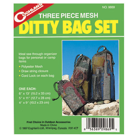 Coghlan's Three-Piece Mesh Ditty Bag Set