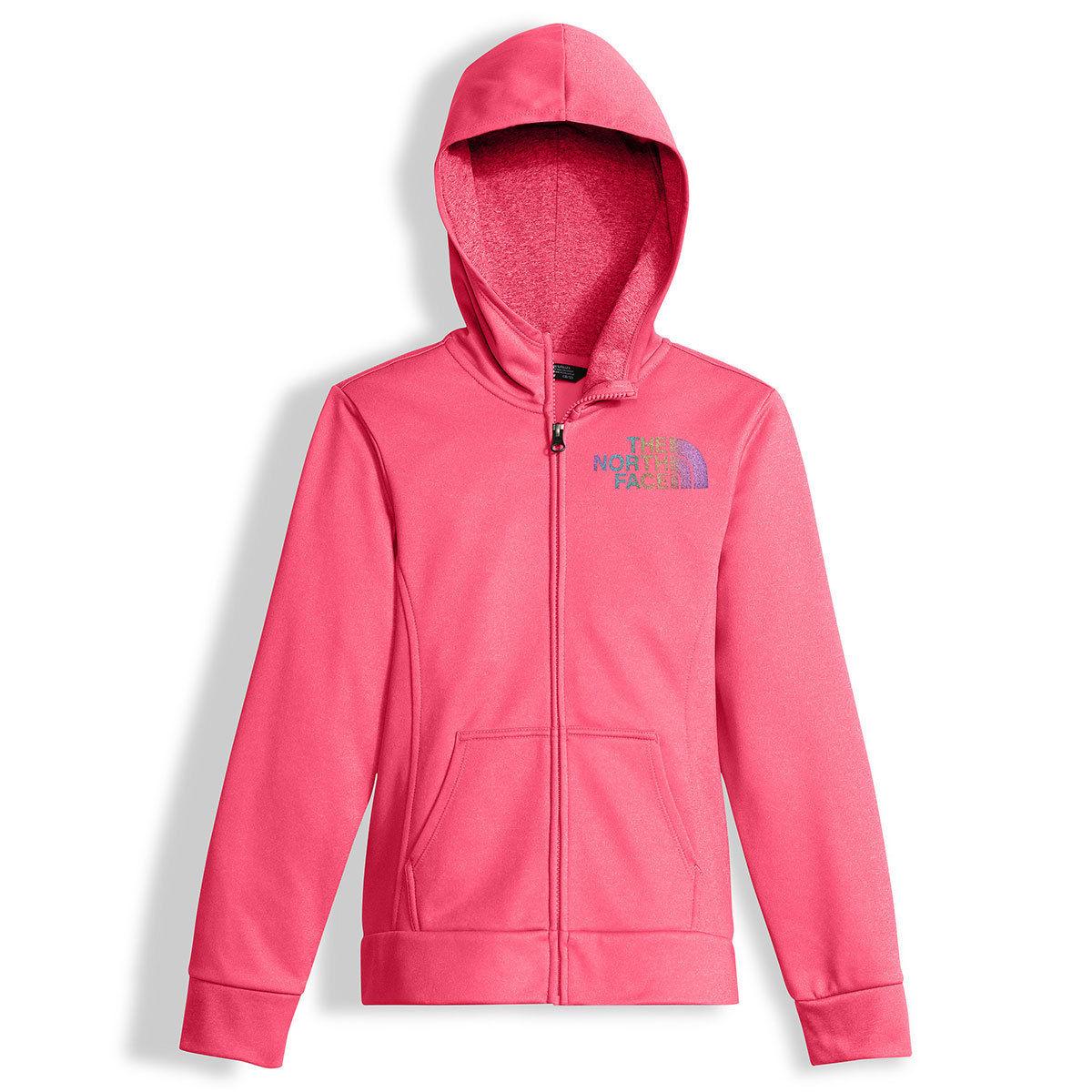 photo: The North Face Girls' Surgent Full Zip Hoodie fleece jacket