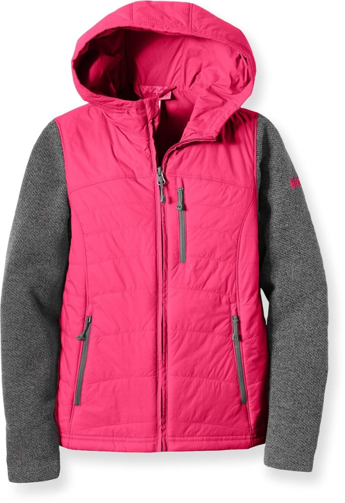 photo: REI Girls' Myka Sweater Fleece Jacket synthetic insulated jacket