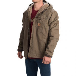 Carhartt Sandstone Hooded Multi-Pocket Jacket/Sherpa Lined