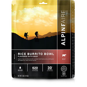 AlpineAire Foods Rice Burrito Bowl with Beef