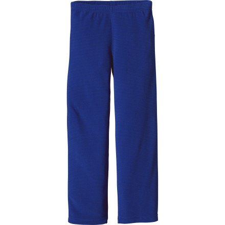 photo: Patagonia Kids' Micro D-Luxe Bottoms fleece pant