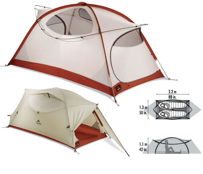 photo: MSR Elbow Room 2P three-season tent