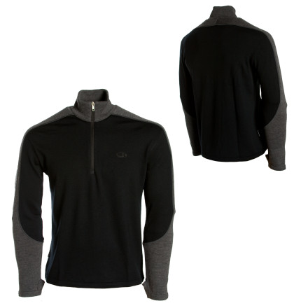 photo: Icebreaker Men's Rock Zip long sleeve performance top