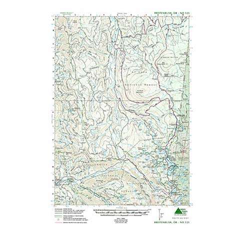 Green Trails Maps Breitenbush Oregon Map