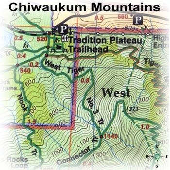 Green Trails Maps Chiwaukum Mountains Map