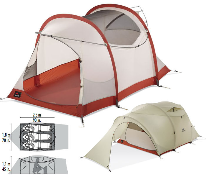 photo: MSR Mo Room 3P three-season tent