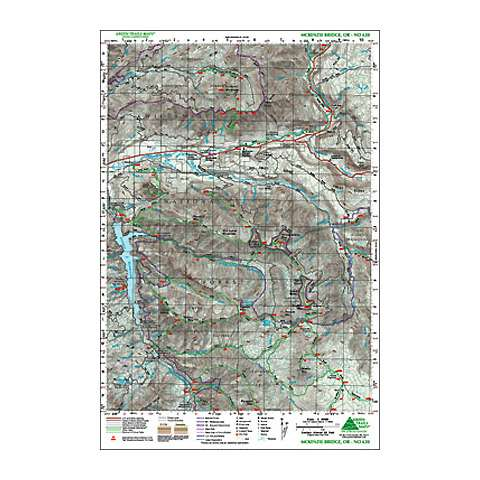 Green Trails Maps McKenzie Bridge Oregon Map