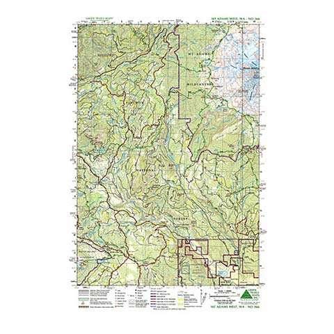 Green Trails Maps Mount Adams West Map