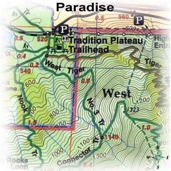 Green Trails Maps Paradise Washington Map