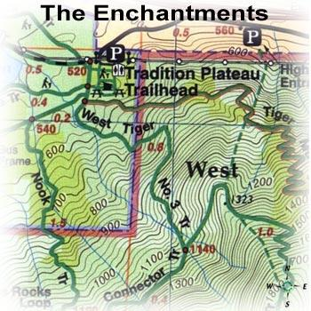 photo: Green Trails Maps The Enchantments Washington Map us pacific states paper map