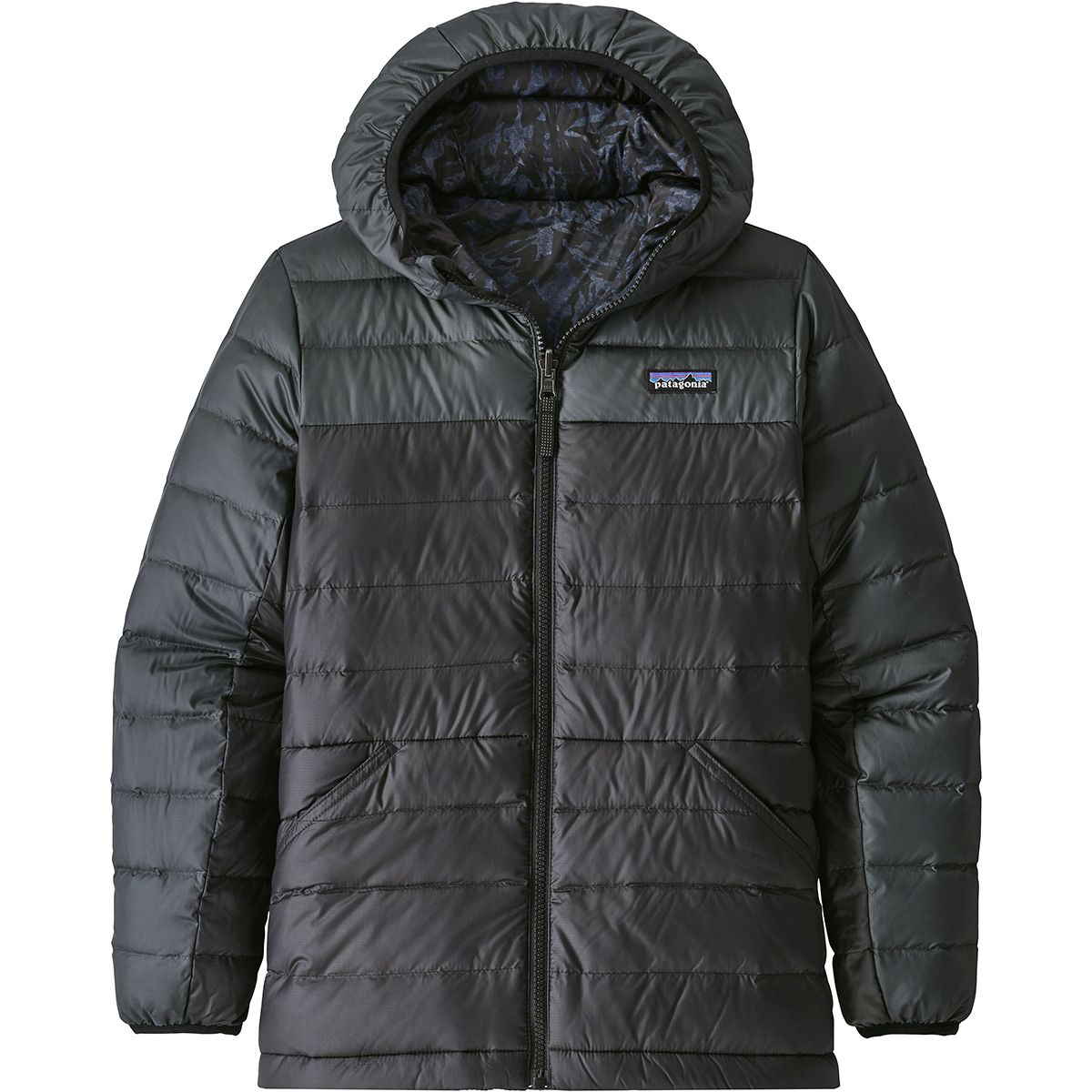 photo: Patagonia Boys' Reversible Down Sweater Hoody down insulated jacket
