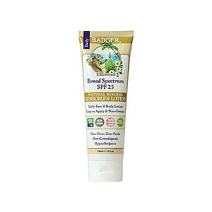 Badger Daily Broad Spectrum SPF 25 Sunscreen