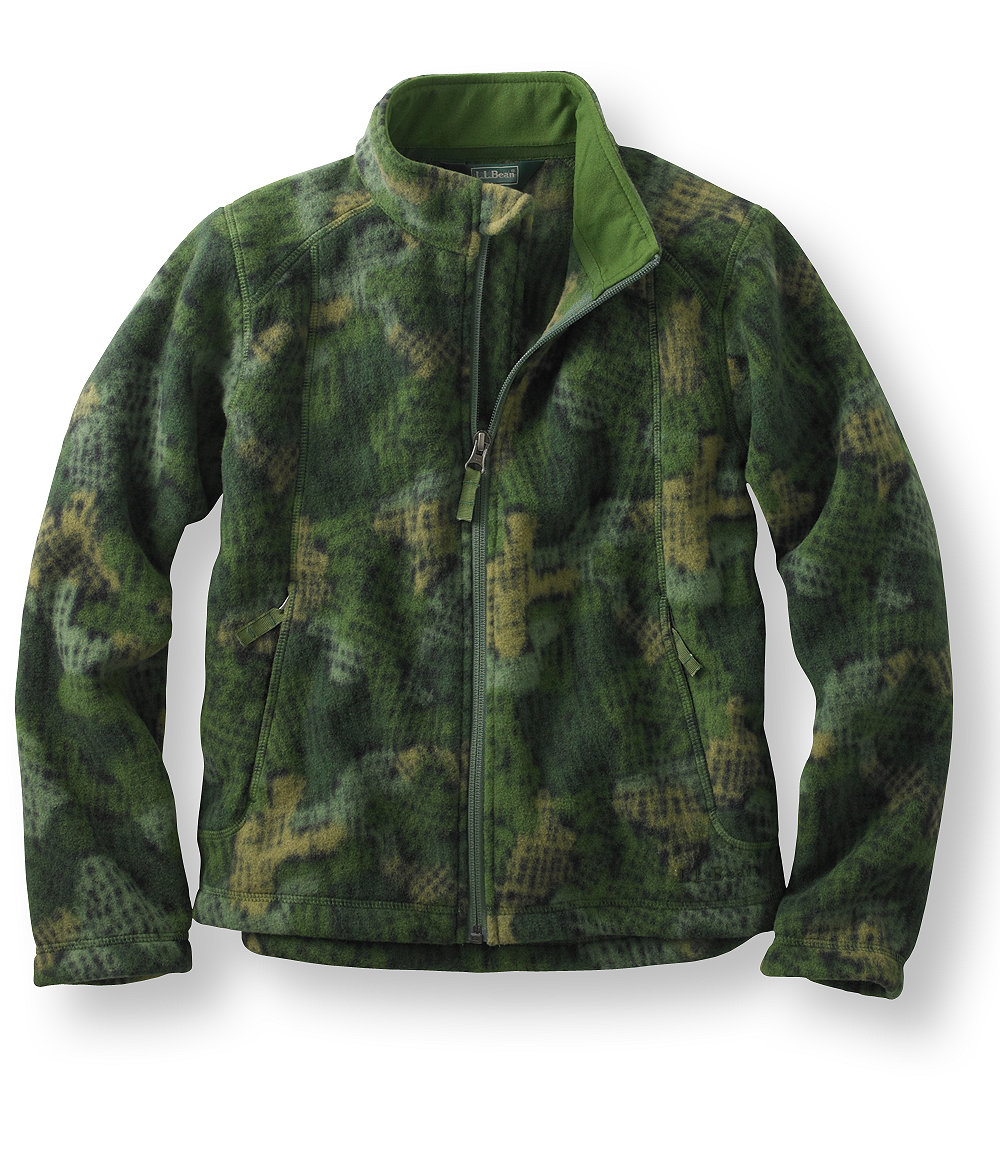 L.L.Bean Trail Model Fleece Jacket, Print