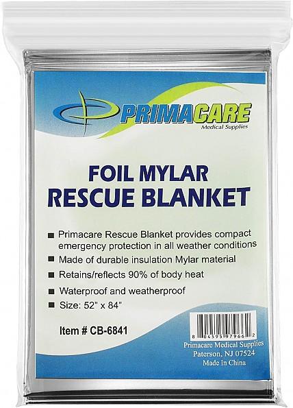 Prima-Care Medical Supplies Foil Mylar Rescue Blanket