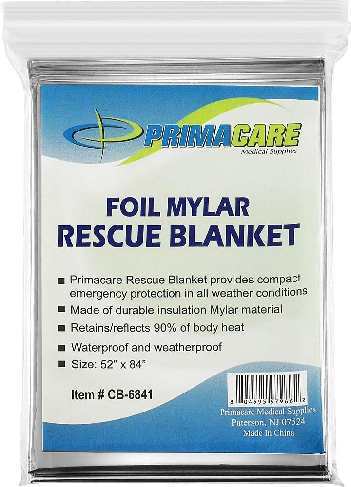 photo:   Prima-Care Medical Supplies Foil Mylar Rescue Blanket top quilt