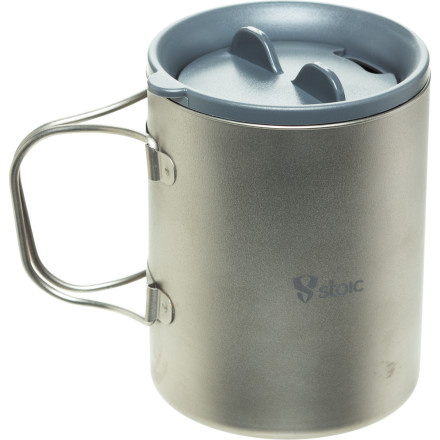 Stoic Ti Double Wall Mug w/Lid - 600ml