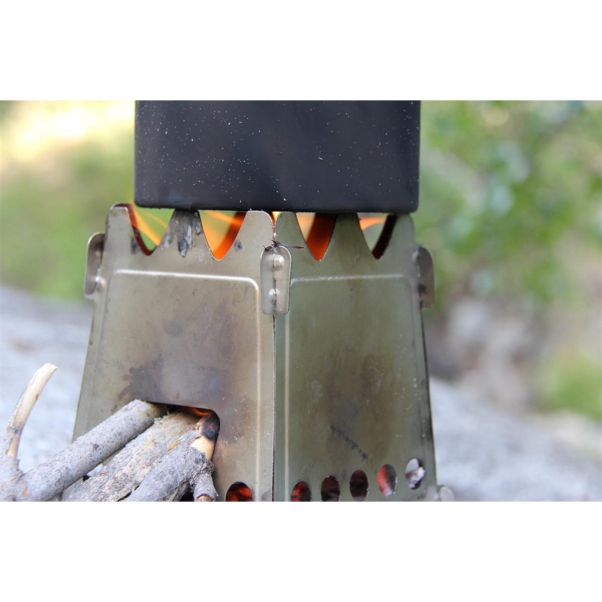 photo: Emberlit Original Stainless Stove wood stove