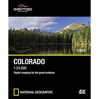 Satmap National Geographic TOPO! Colorado SD Card