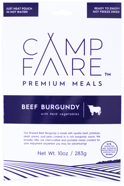 CampFare Beef Burgundy with Field Vegetables