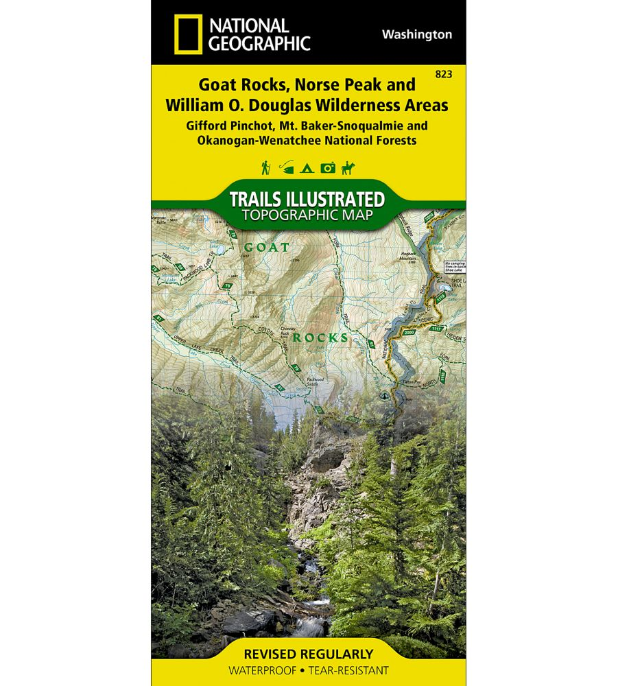 National Geographic Goat Rocks, Norse Peak, & William O. Douglas Wilderness Areas Map