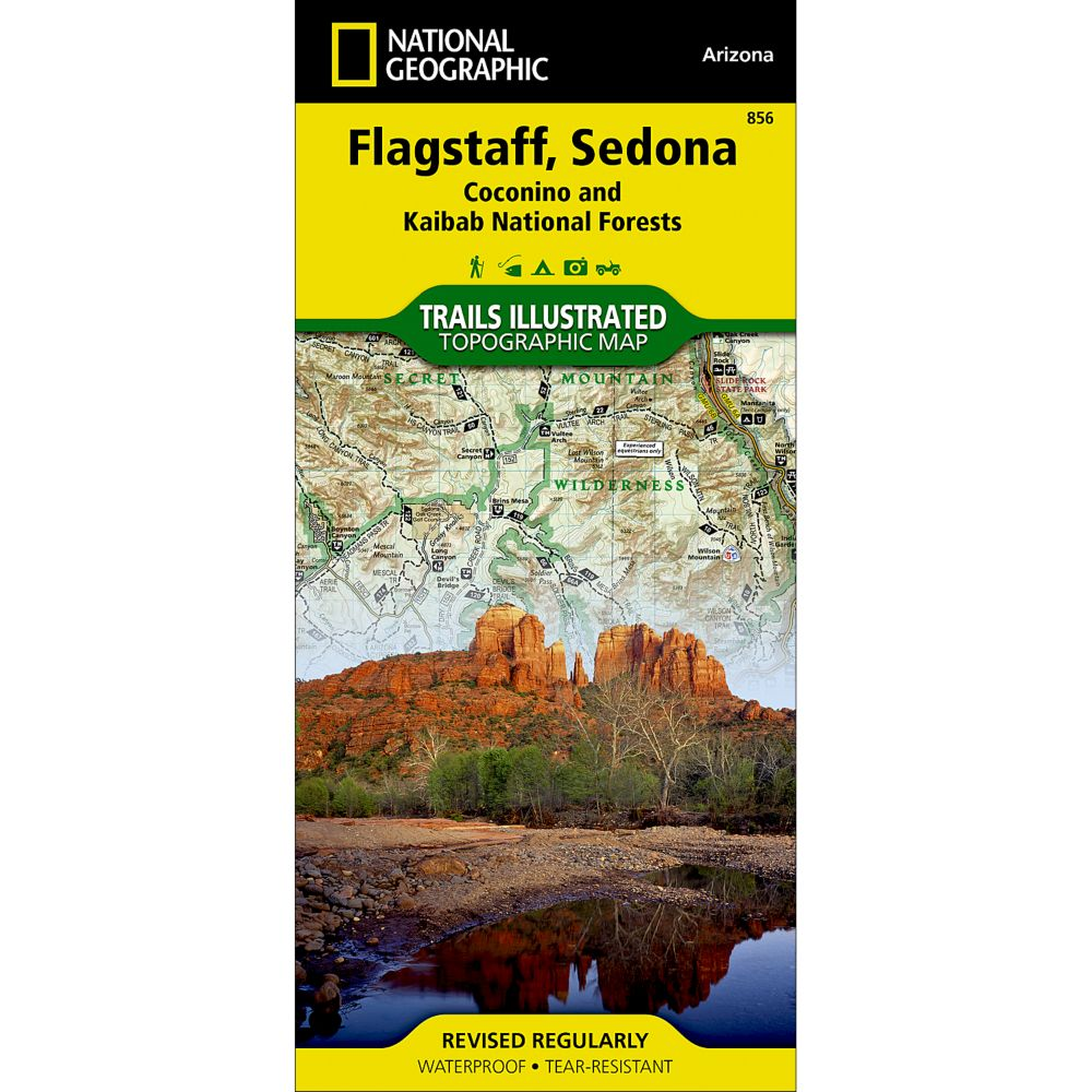 photo: National Geographic Flagstaff/Sedona Map us mountain states paper map