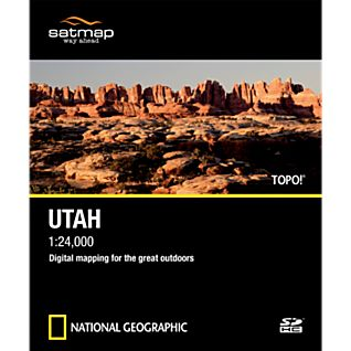 photo: Satmap National Geographic TOPO! Utah SD Card us mountain states map application