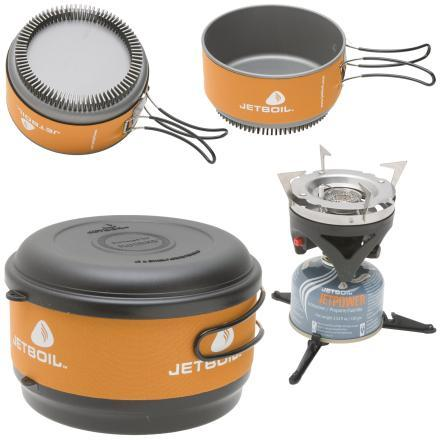 photo: Jetboil Group Cooking System (GCS) compressed fuel canister stove