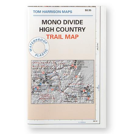 Tom Harrison Maps Mono Divide High Country Trail Map